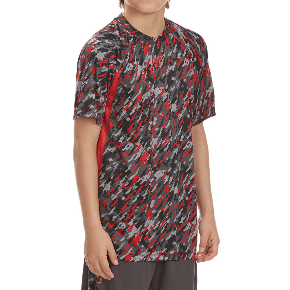 RBX Boys' Digital Camo Short-Sleeve Tee - RED