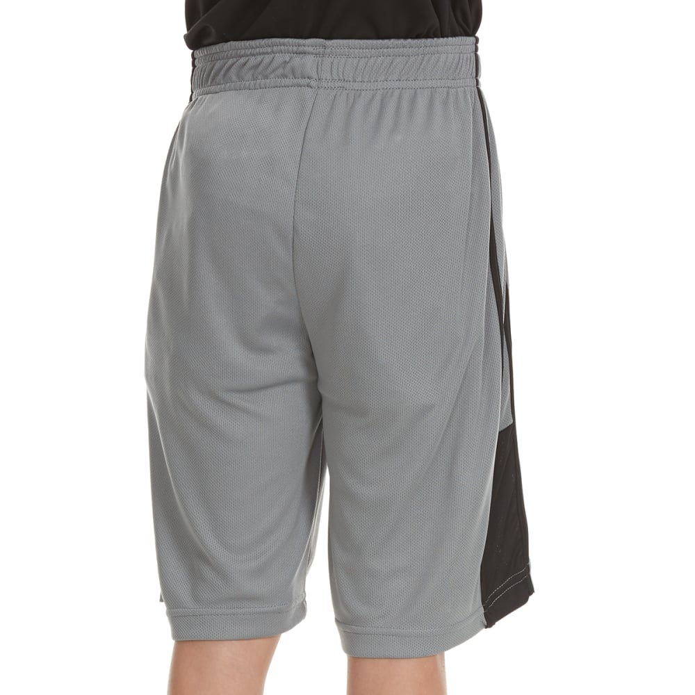 "RBX Boys' ""Refuse to Lose"" Poly Jersey Mesh Solid Shorts - GREY"