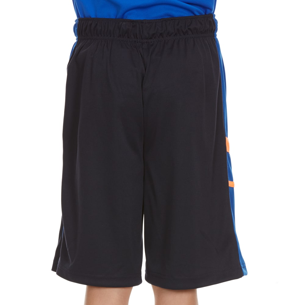 "RBX Boys' ""Rule The Yard"" Side Stripe Poly Jersey Mesh Shorts - NAVY"