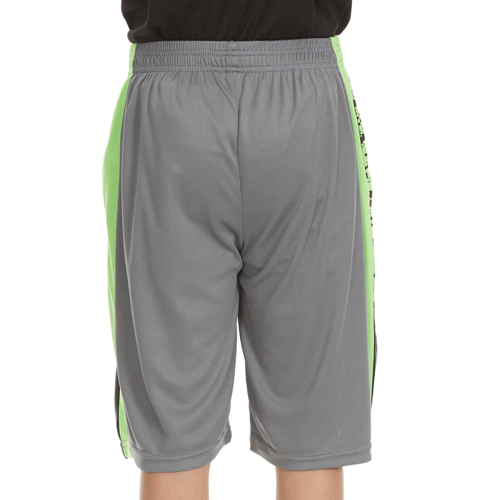 "RBX Boys' ""Unleashed"" Mesh Poly Jersey Side-Blocked Shorts - GREY"