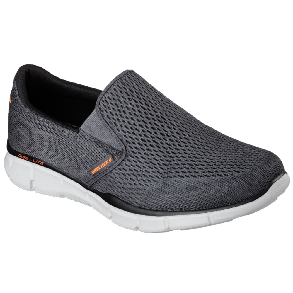 SKECHERS Men's Equalizer - Double Play Shoes, Wide - CHARCOAL