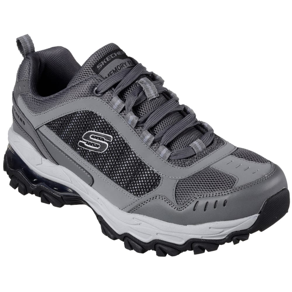 SKECHERS Men's After Burn M. Fit - Air Sneakers, Grey/Black, Wide - GREY-GYBK