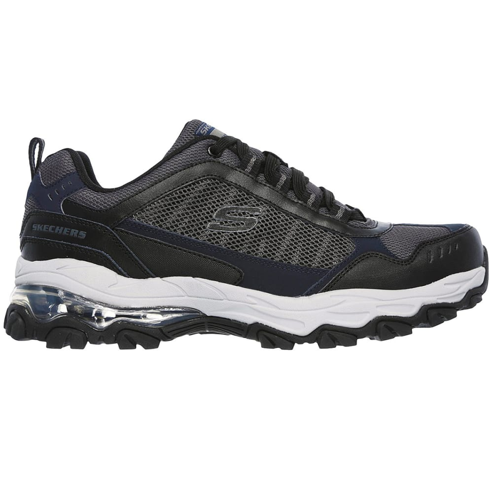 SKECHERS Men's After Burn M. Fit - Air Sneakers, Grey/Black - NAVY-NVBK