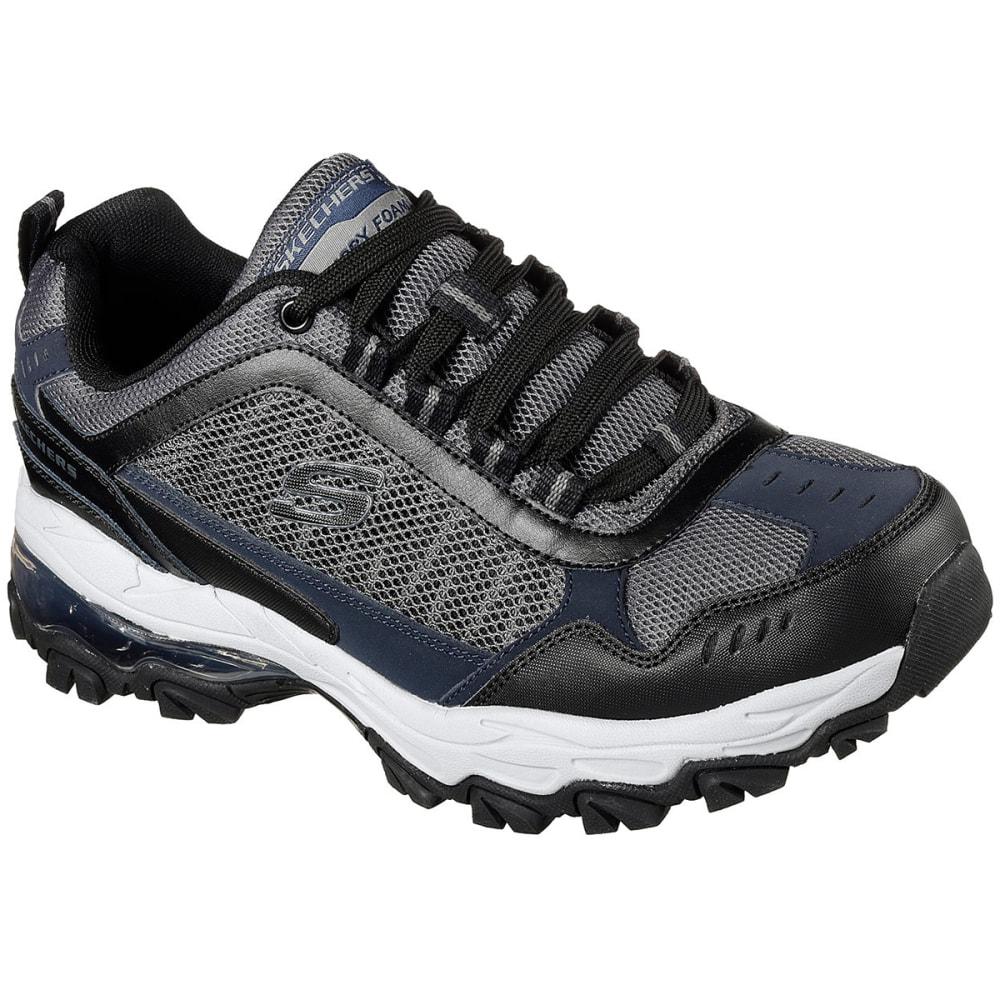 SKECHERS Men's After Burn M. Fit - Air Sneakers, Grey/Black, Wide 8