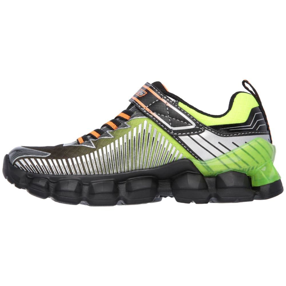 SKECHERS Boys' S Lights: Flashpod-Scoria Shoes - BLACK