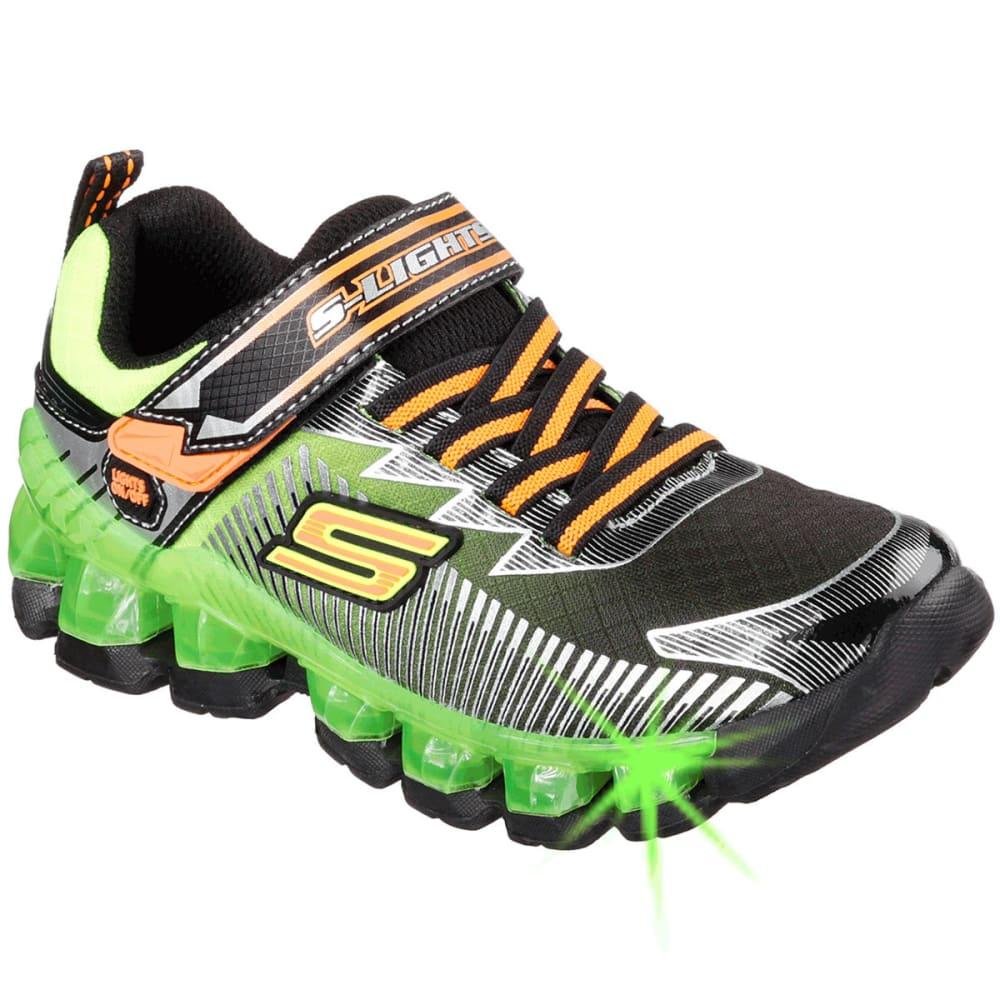 SKECHERS Boys' S Lights: Flashpod-Scoria Shoes - BLACK