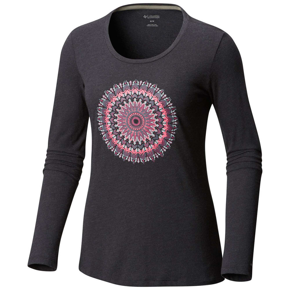COLUMBIA Women's Pixel Point™ Long-Sleeve Tee - 031-CHARCOAL HEATHER