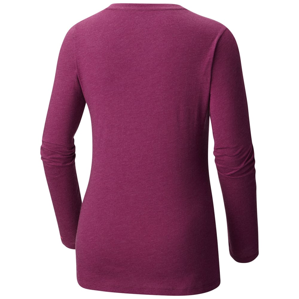 COLUMBIA Women's Radiation Road Long-Sleeve Tee - 520-DARK RASPBERRY