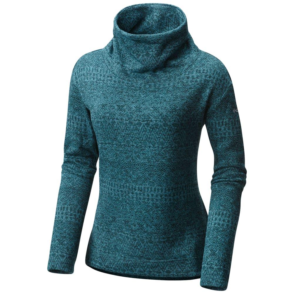 COLUMBIA Women's Sweater Season Printed Long-Sleeve Pullover - 336-CLOUDBURST