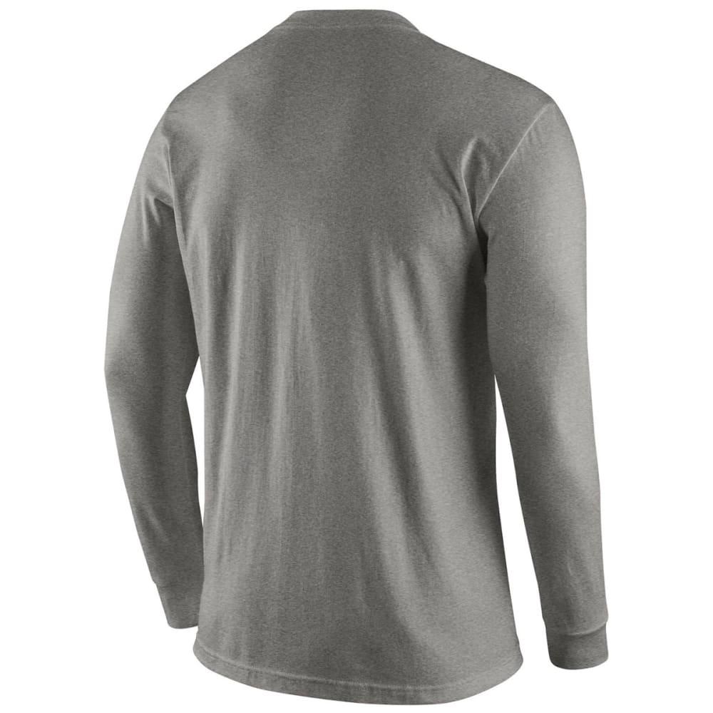 NIKE UCONN Men's Wordmark Long Sleeve Tee - DARK GREY HEATHER