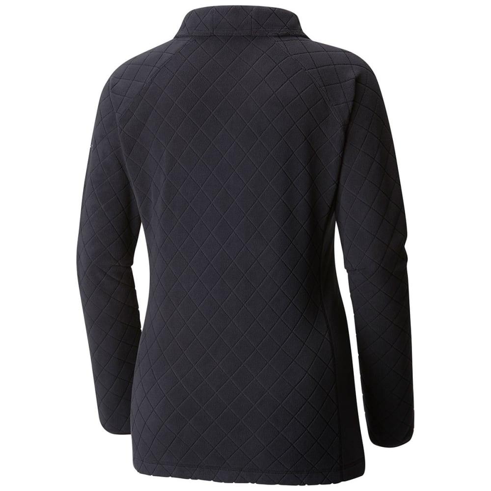 COLUMBIA Women's Glacial Fleece III Print Half Zip Pullover - 026-BLACK DIAMOND
