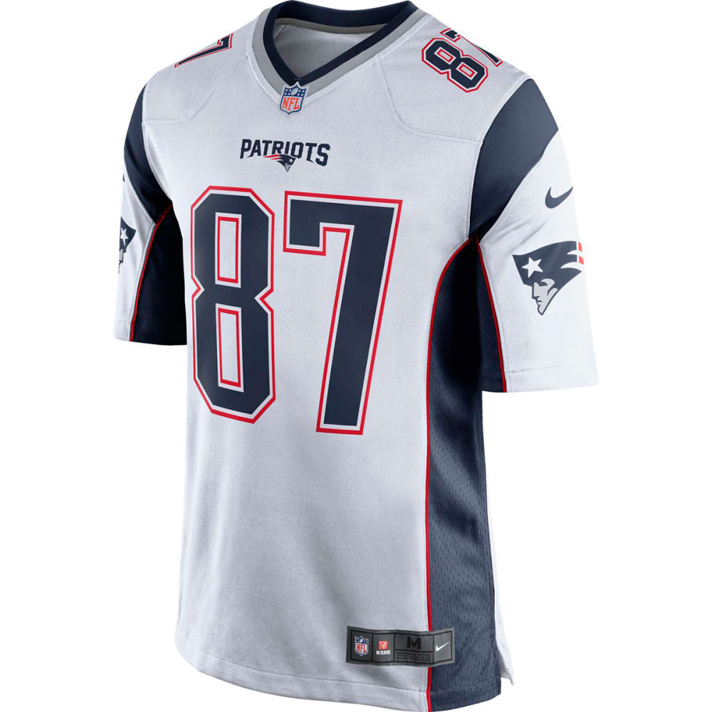 NIKE Men's New England Patriots Rob Gronkowski Game Jersey - WHITE