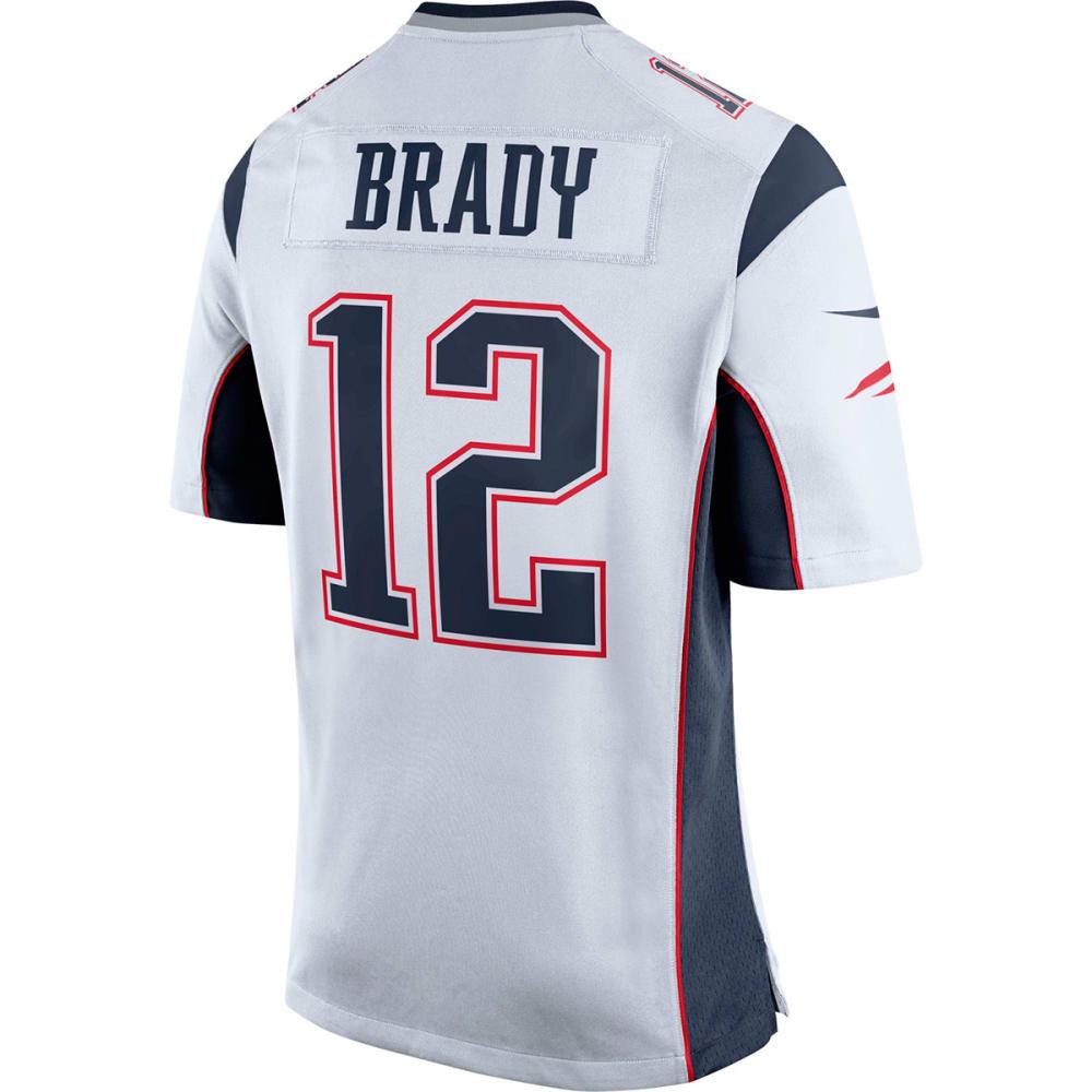 NIKE Men's New England Patriots Tom Brady Game Jersey - WHITE