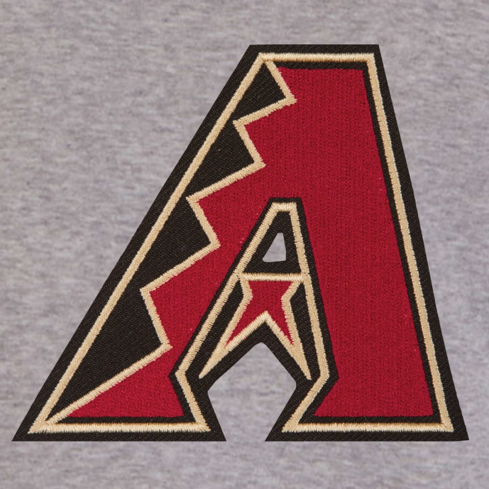 JH DESIGN Men's MLB Arizona Diamondbacks Reversible Fleece Hooded Jacket - GREY RED