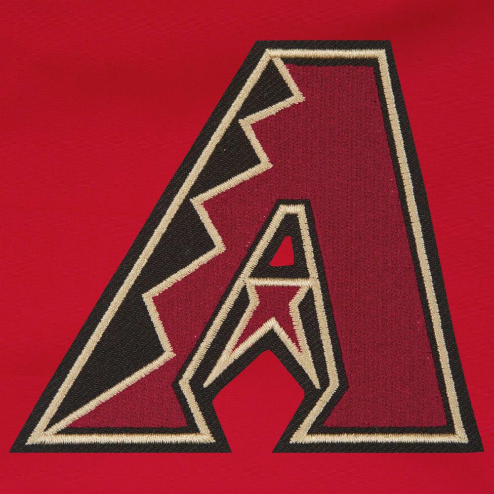 JH DESIGN Men's MLB Arizona Diamondbacks Reversible Fleece Hooded Jacket - GREY RED