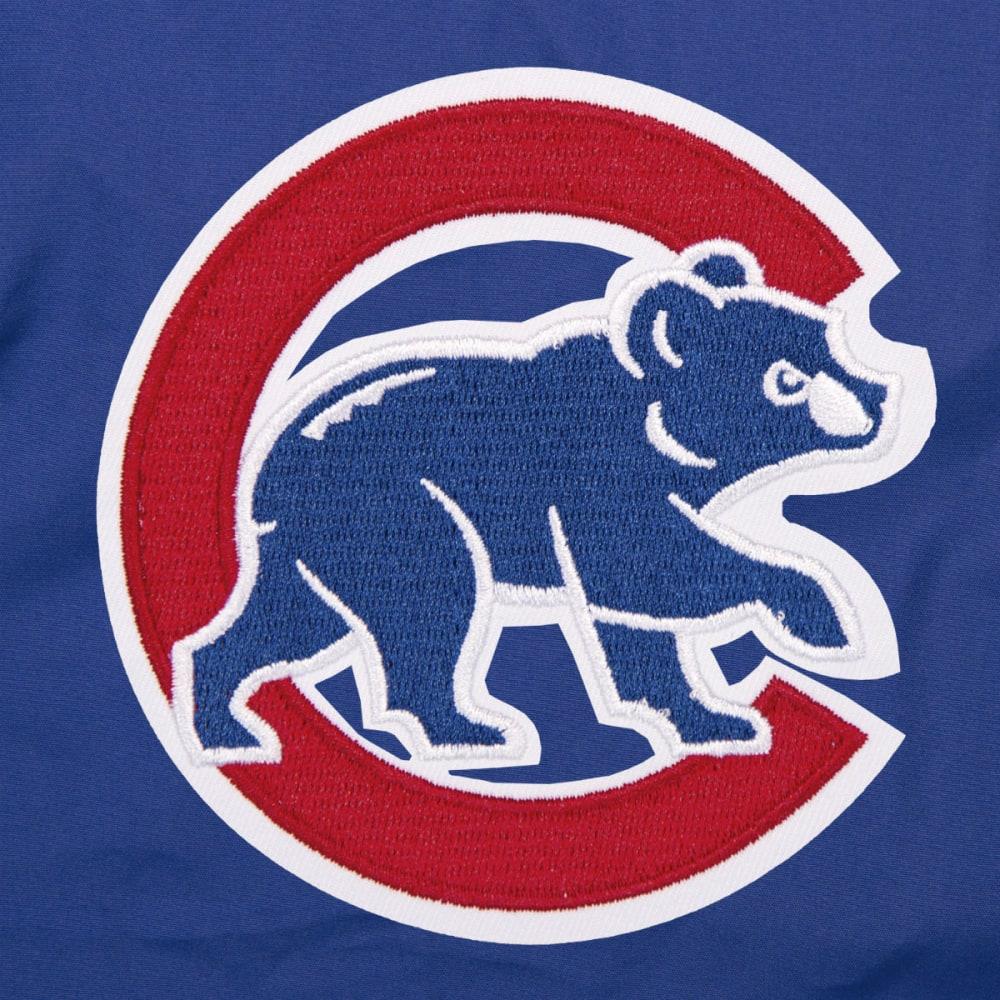 JH DESIGN Men's MLB Chicago Cubs Reversible Fleece Hooded Jacket - GREY ROYAL