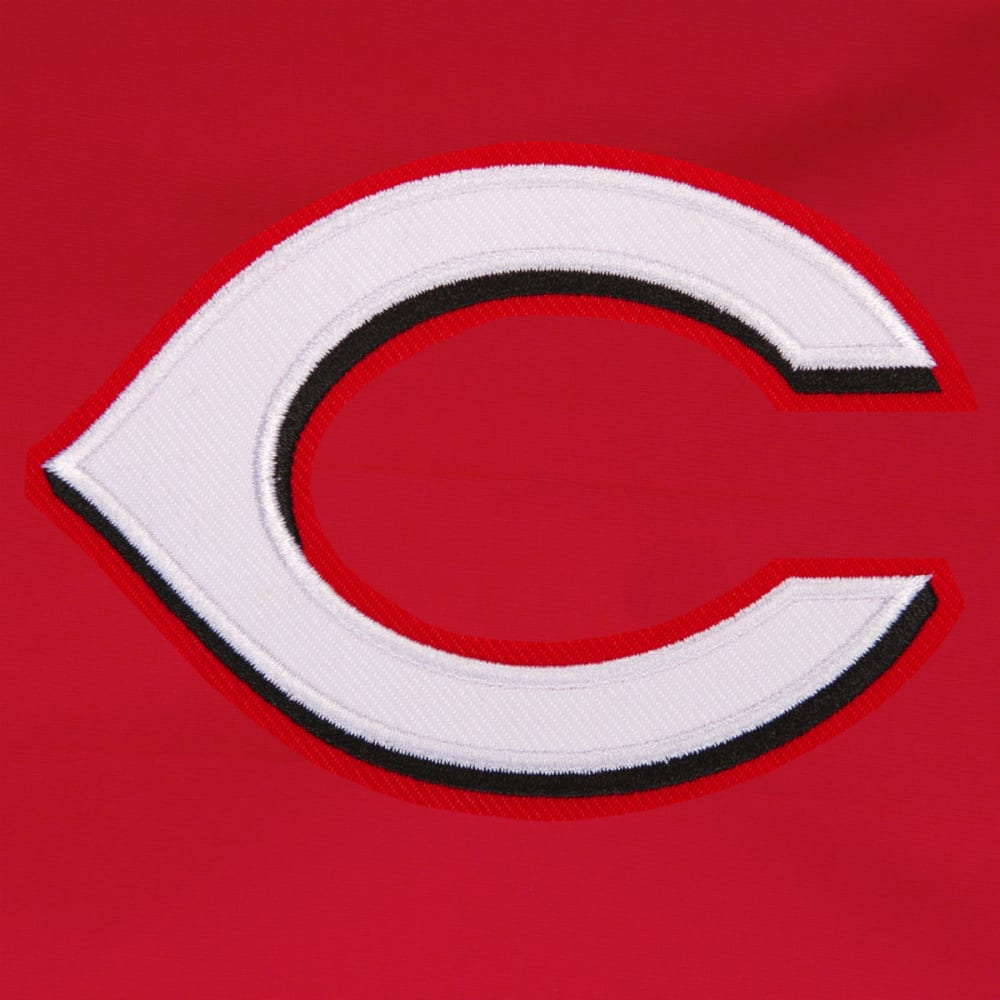JH DESIGN Men's MLB Cincinnati Reds Reversible Fleece Hooded Jacket - GREY RED