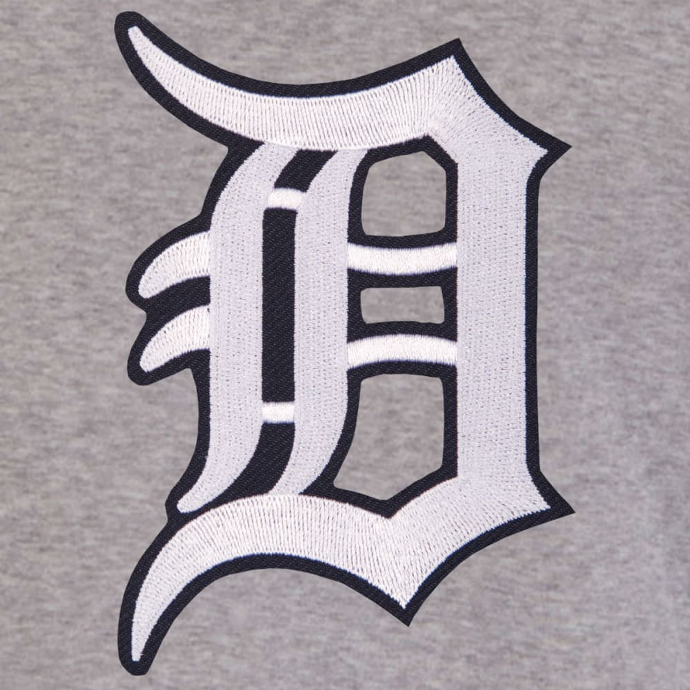 JH DESIGN Men's MLB Detroit Tigers Reversible Fleece Hooded Jacket - GREY NAVY