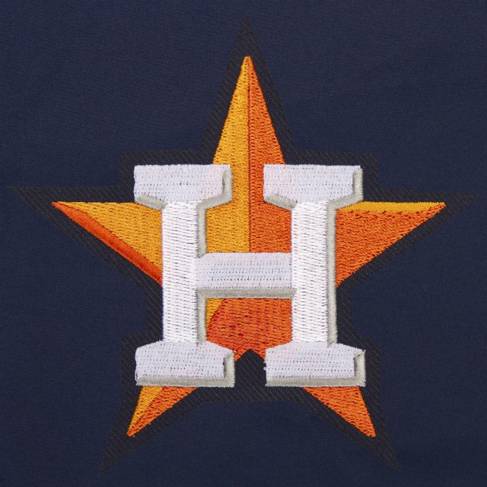JH DESIGN Men's MLB Houston Astros Reversible Fleece Hooded Jacket - GREY NAVY