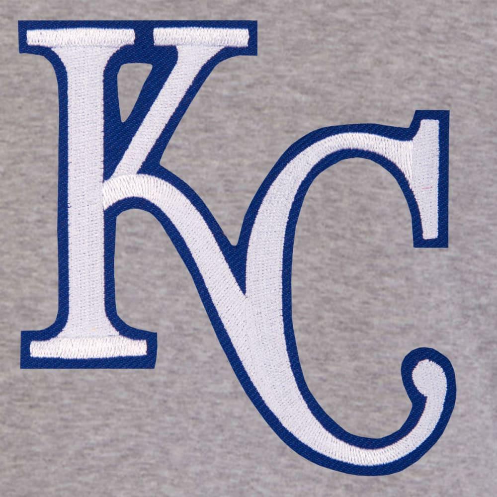 JH DESIGN Men's MLB Kansas City Royals Reversible Fleece Hooded Jacket - GREY ROYAL