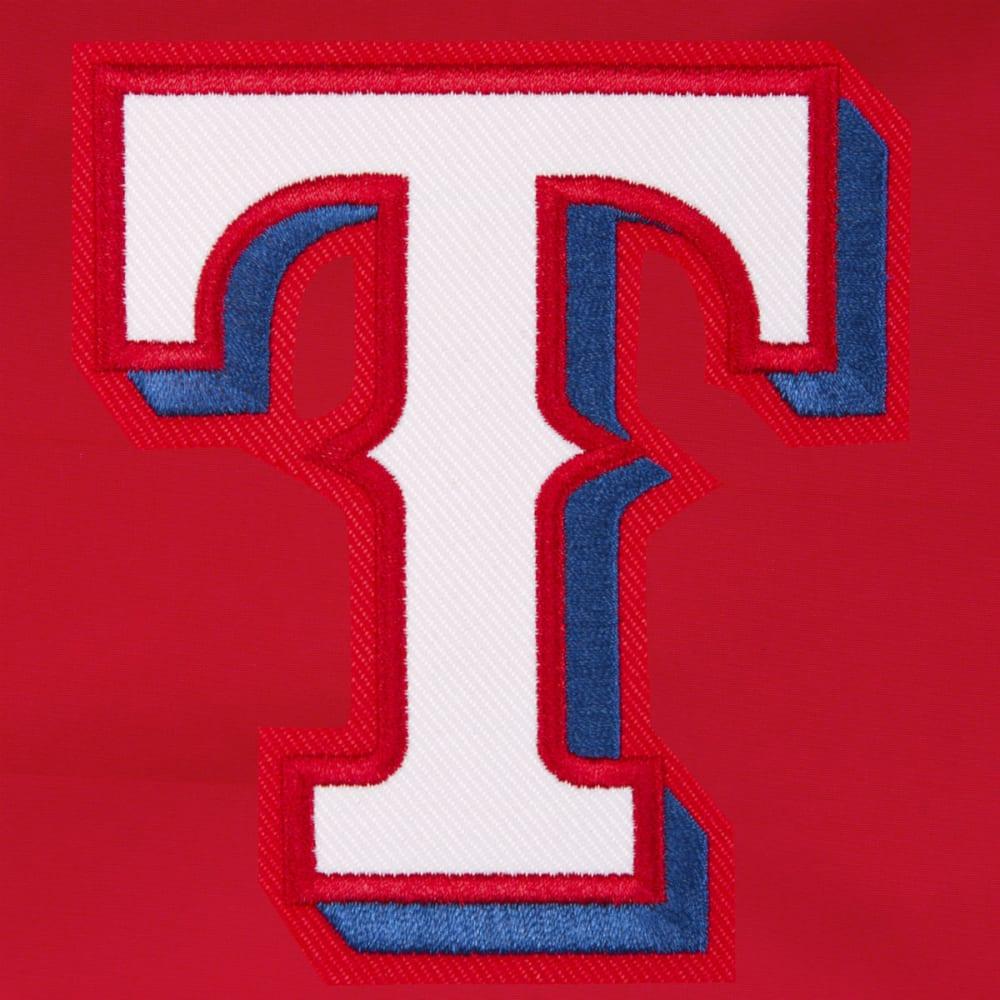JH DESIGN Men's MLB Texas Rangers Reversible Fleece Hooded Jacket - GREY RED
