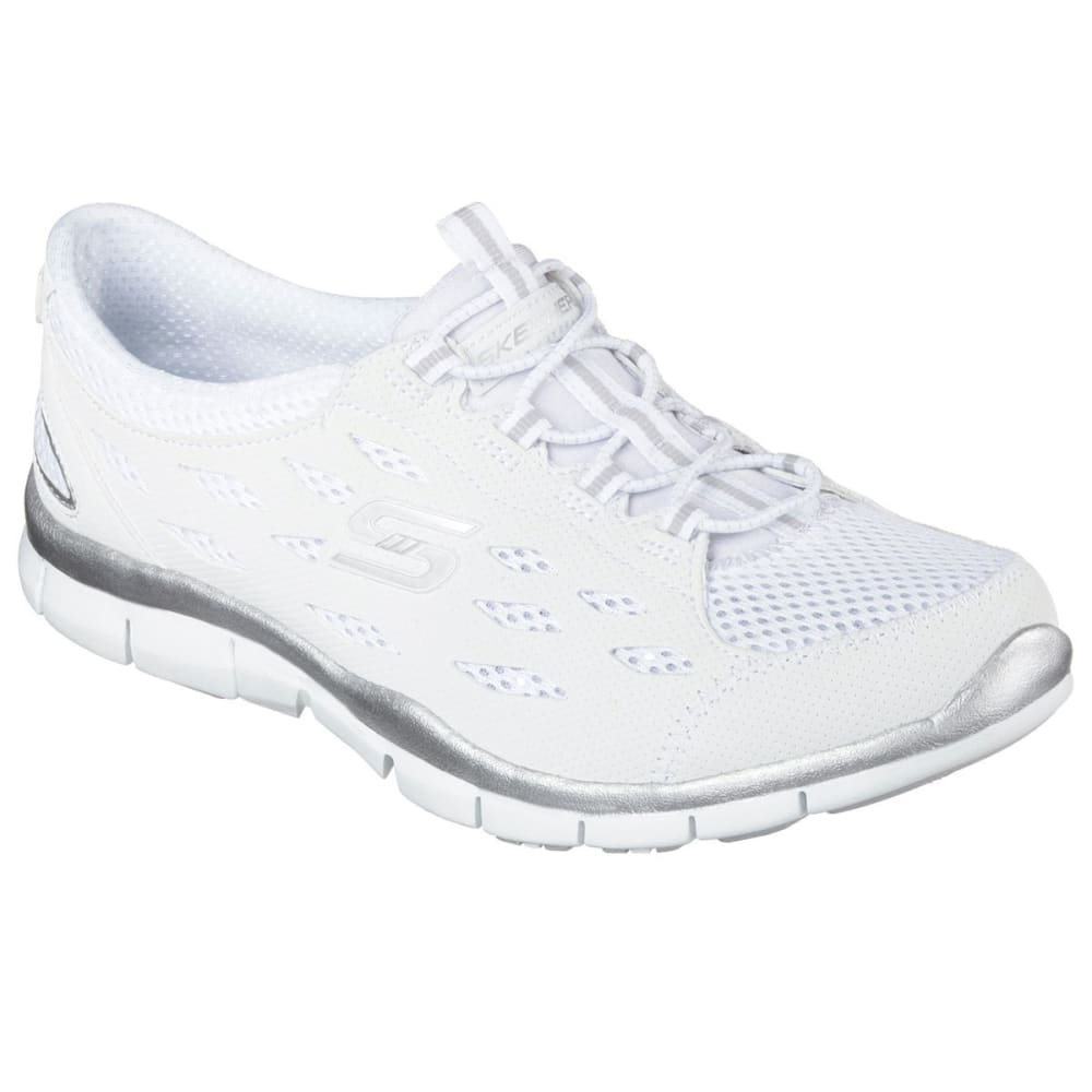 SKECHERS Women's Gratis – Going Places Shoes, Wide - WHITE