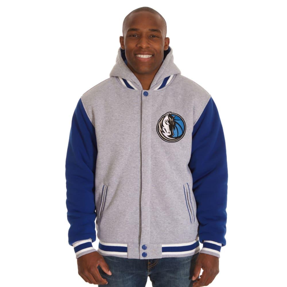 JH DESIGN Men's NBA Dallas Mavericks Reversible Fleece Hooded Jacket S