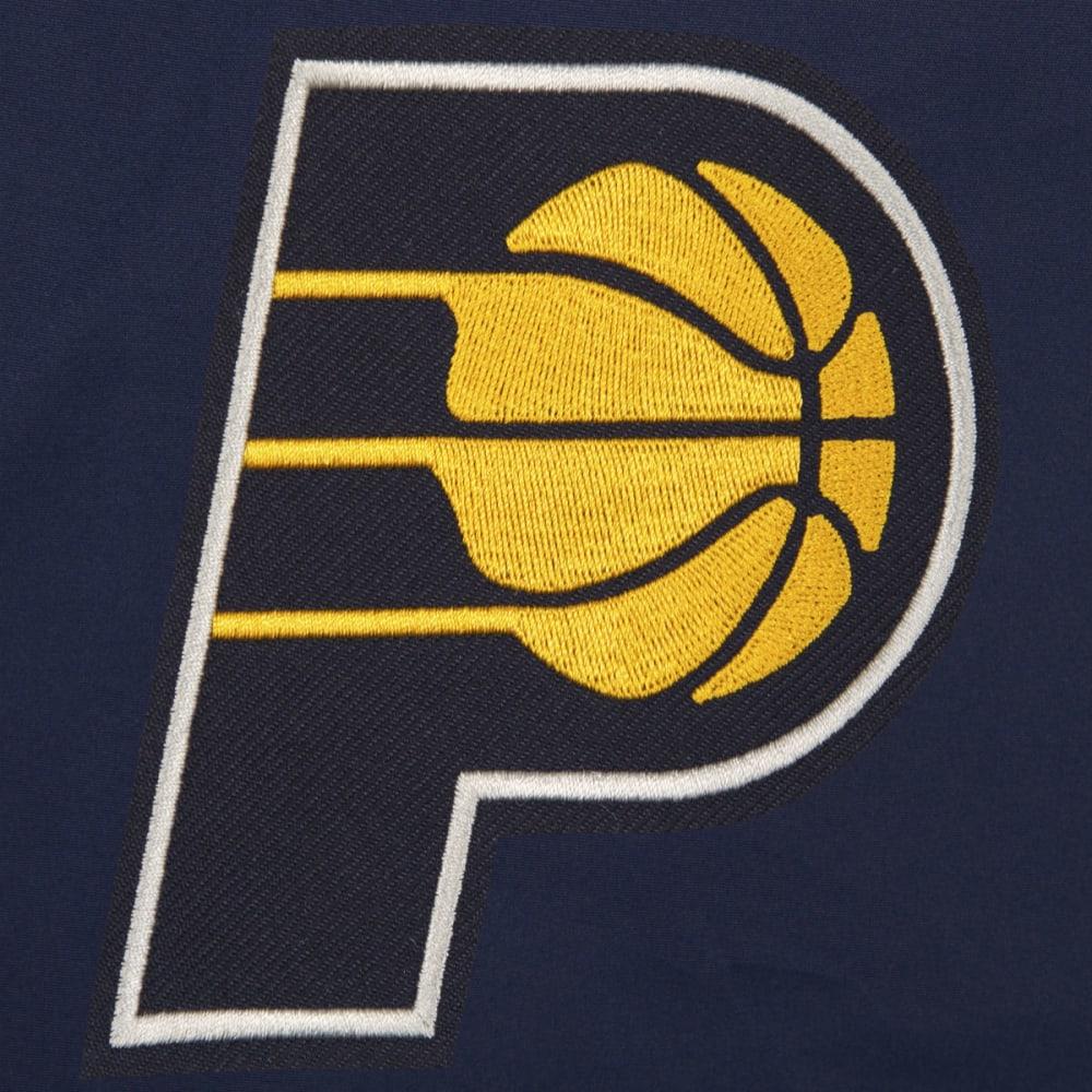 JH DESIGN Men's NBA Indiana Pacers Reversible Fleece Hooded Jacket - GREY NAVY