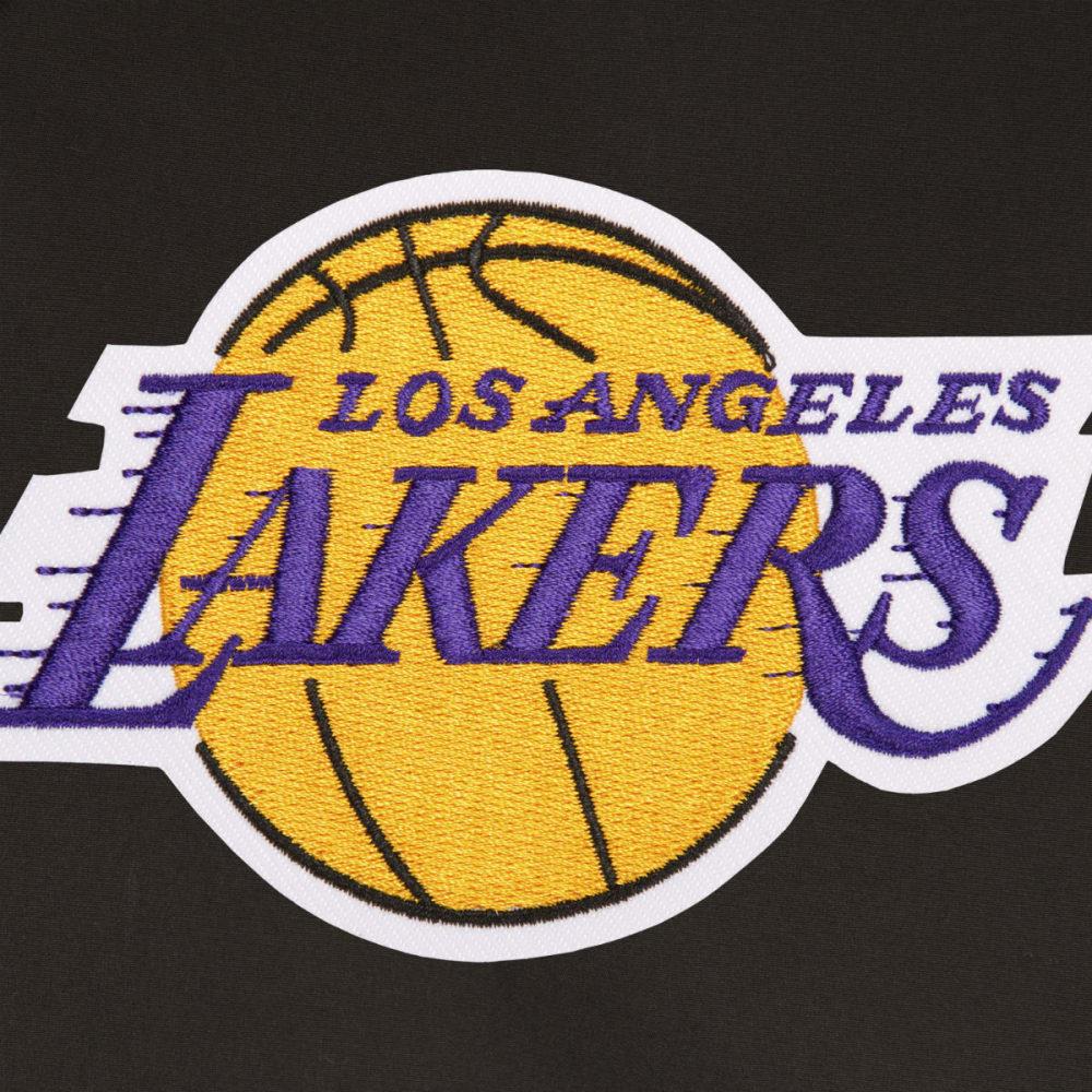 JH DESIGN Men's NBA Los Angeles Lakers Reversible Fleece Hooded Jacket - GREY BLACK