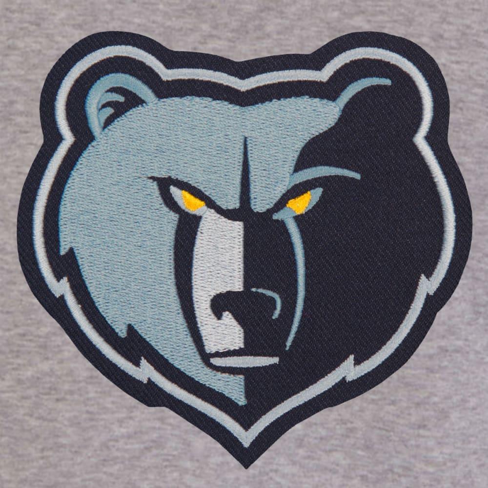 JH DESIGN Men's NBA Memphis Grizzlies Reversible Fleece Hooded Jacket - GREY NAVY