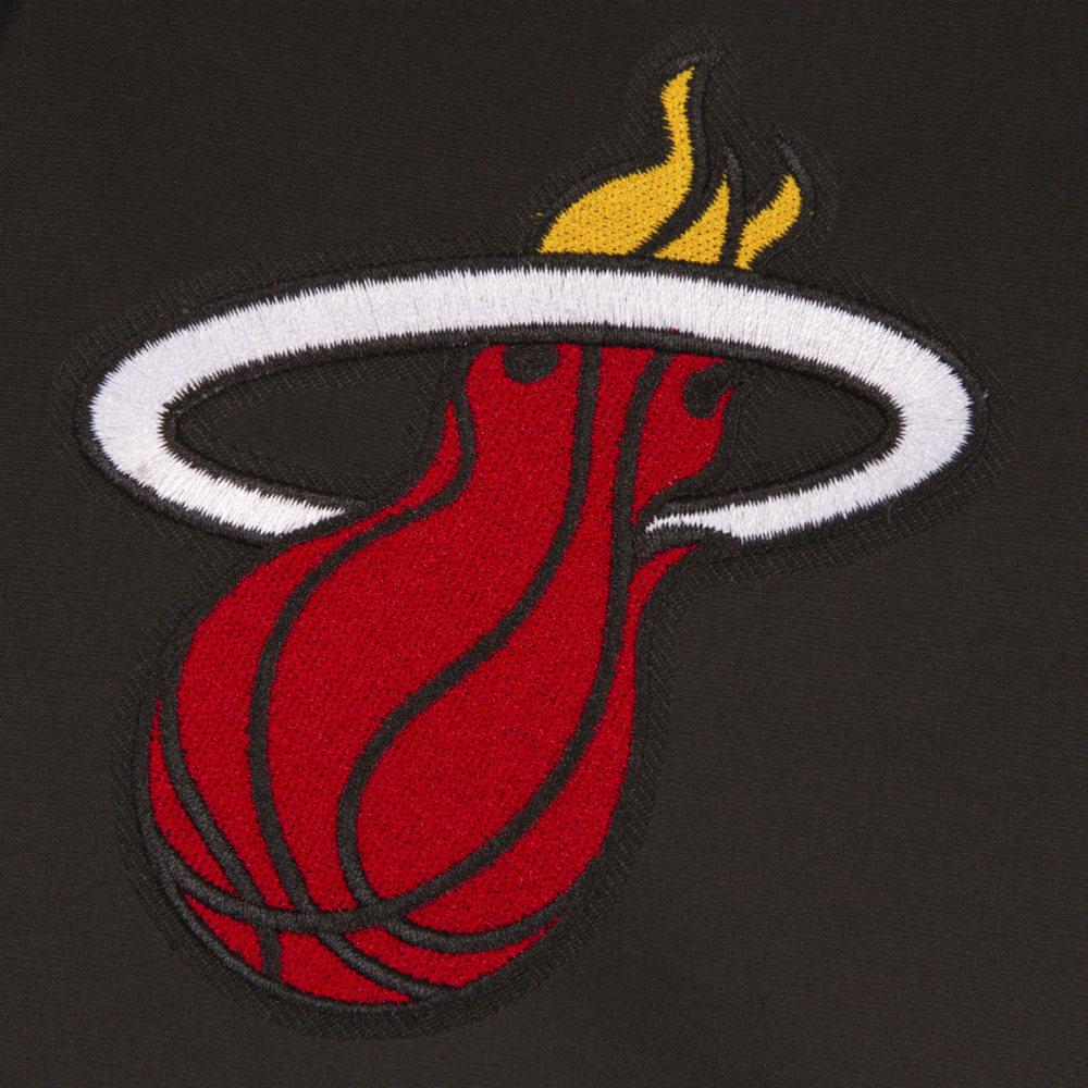 JH DESIGN Men's NBA Miami Heat Reversible Fleece Hooded Jacket - GREY BLACK