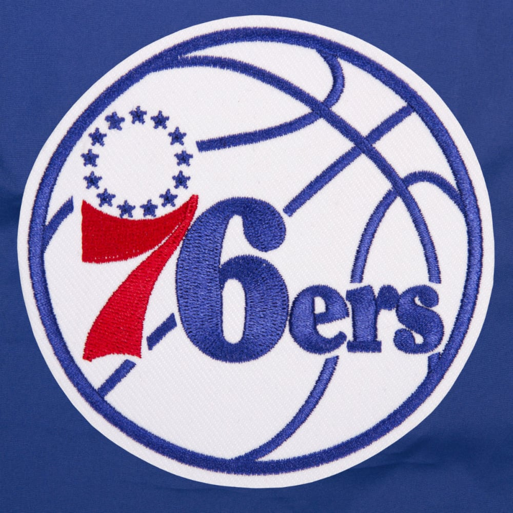 JH DESIGN Men's NBA Philadelphia 76ers Reversible Fleece Hooded Jacket - GREY ROYAL