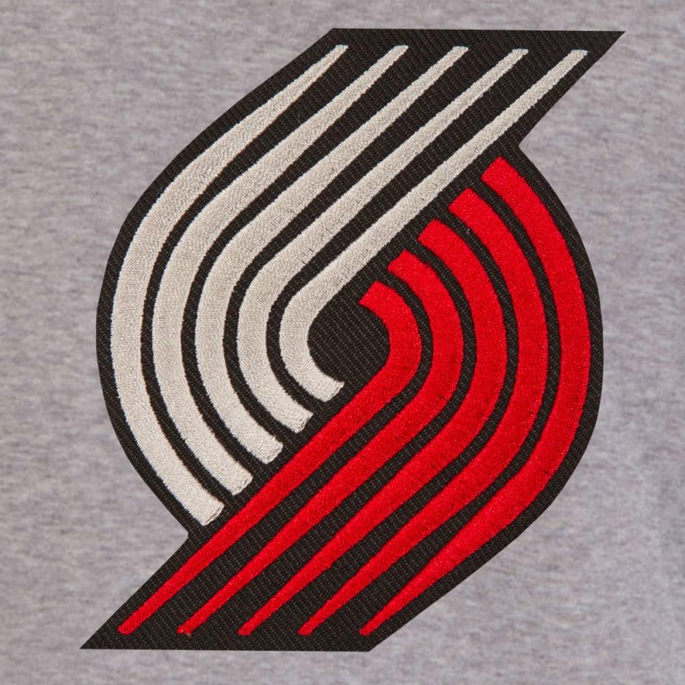 JH DESIGN Men's NBA Portland Trailblazers Reversible Fleece Hooded Jacket - GREY BLACK
