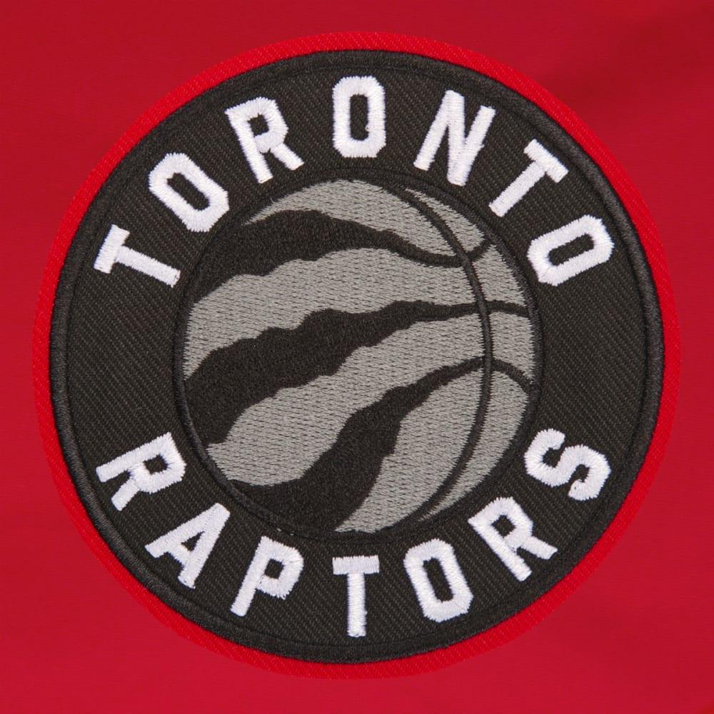 JH DESIGN Men's NBA Toronto Raptors Reversible Fleece Hooded Jacket - GREY RED