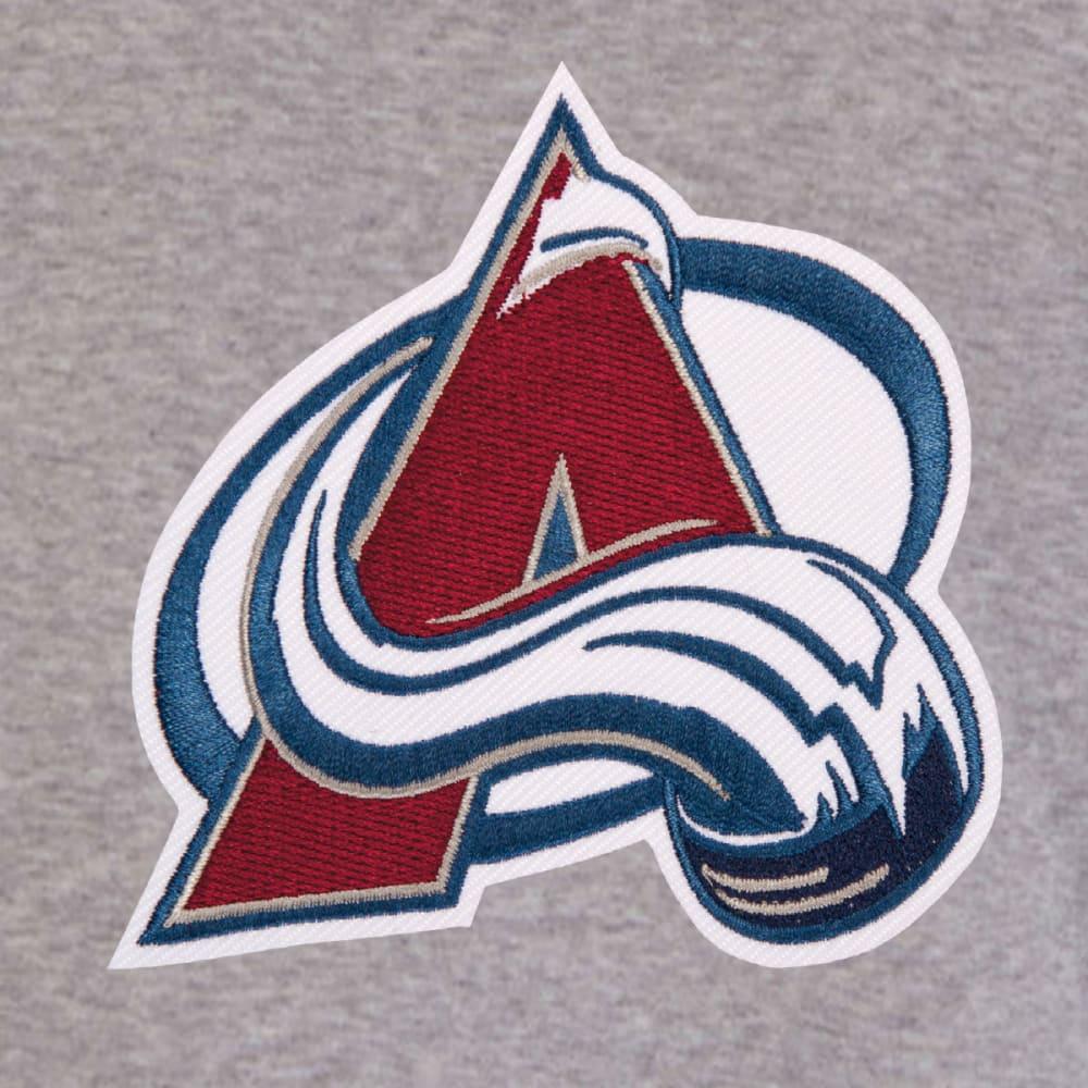JH DESIGN Men's NHL Colorado Avalanche Reversible Fleece Hooded Jacket - GREY NAVY