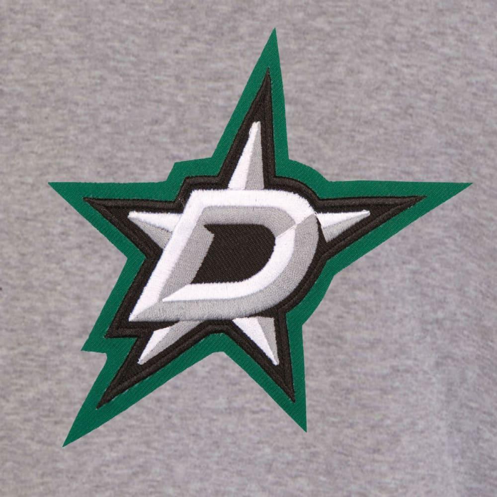 JH DESIGN Men's NHL Dallas Stars Reversible Fleece Hooded Jacket - GREY BLACK