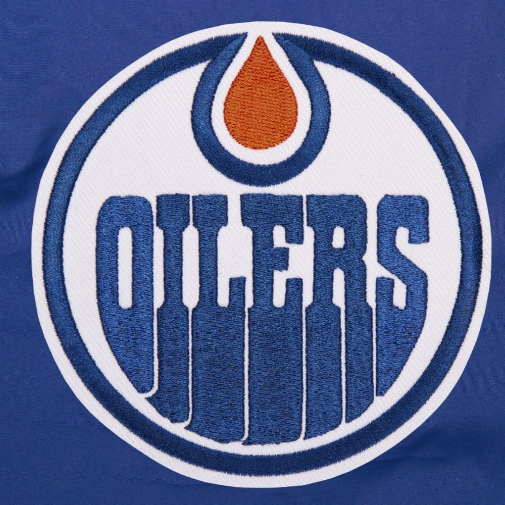 JH DESIGN Men's NHL Edmonton Oilers Reversible Fleece Hooded Jacket - GREY ROYAL