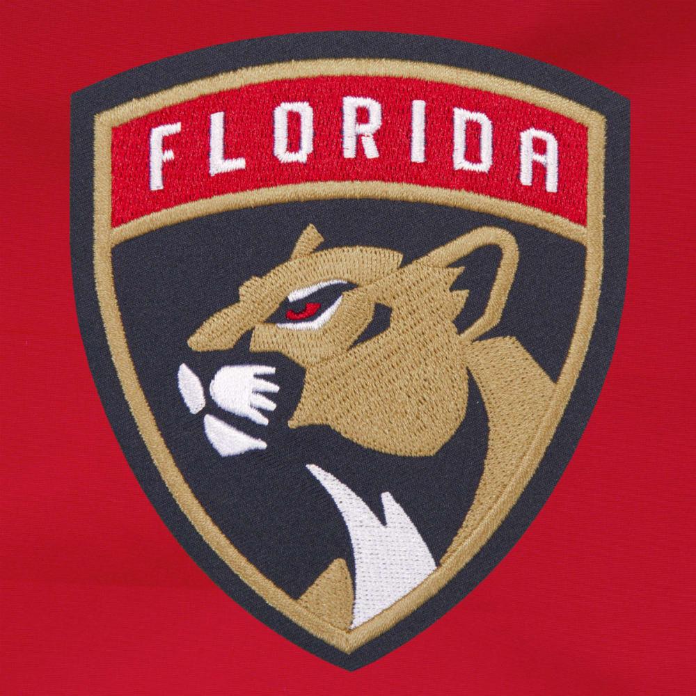 JH DESIGN Men's NHL Florida Panthers Reversible Fleece Hooded Jacket - GREY RED