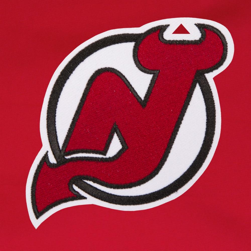 JH DESIGN Men's NHL New Jersey Devils Reversible Fleece Hooded Jacket - GREY RED