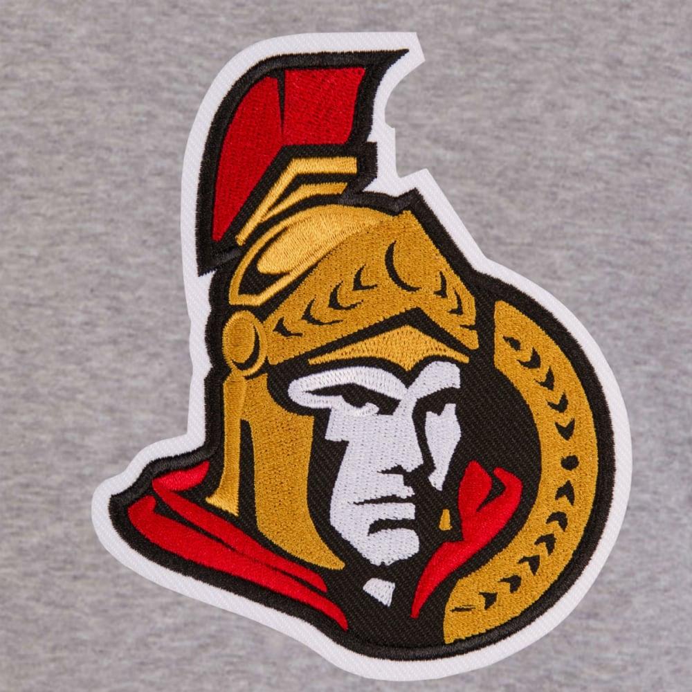 JH DESIGN Men's NHL Ottawa Senators Reversible Fleece Hooded Jacket - GREY RED