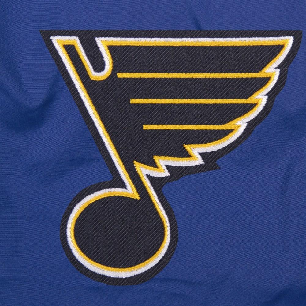 JH DESIGN Men's NHL St. Louis Blues Reversible Fleece Hooded Jacket - GREY ROYAL