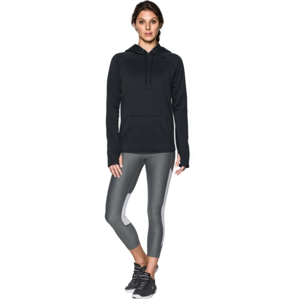 UNDER ARMOUR Women's Storm Armour Fleece Icon Hoodie - BLACK/BLACK-001