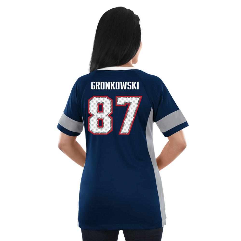 NEW ENGLAND PATRIOTS Women's Draft Him Gronkowski Jersey Short-Sleeve Top - NAVY