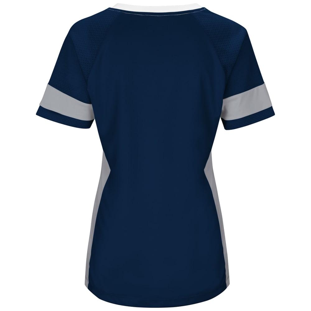 NEW ENGLAND PATRIOTS Women's Draft Me Jersey Short-Sleeve Top - NAVY