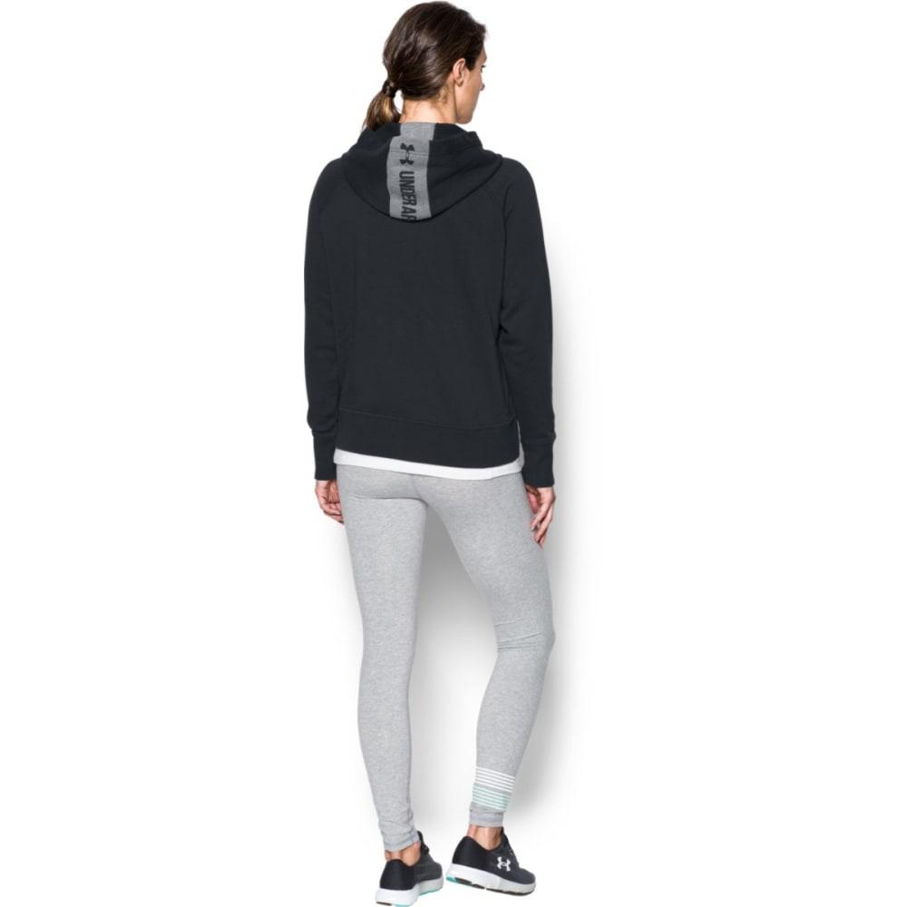 UNDER ARMOUR Women's Long Sleeve Favorite Fleece Half Zip Shirt - BLACK/GRAPHITE-001