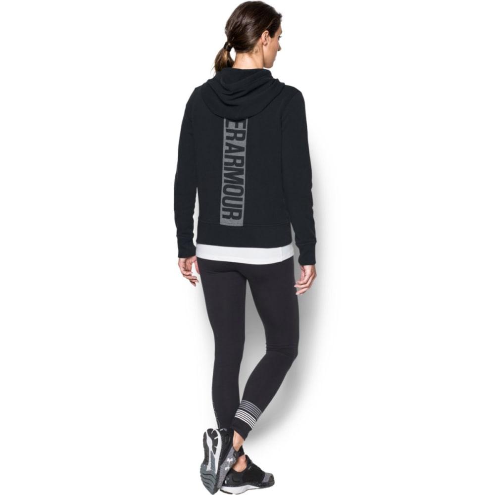 UNDER ARMOUR Women's Favorite Fleece Full-Zip Hoodie - BLACK-001