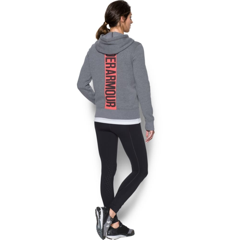 UNDER ARMOUR Women's Favorite Fleece Full-Zip Hoodie - CBH/MARATHON RED-090