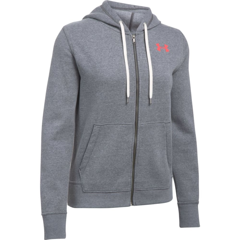 UNDER ARMOUR Women's Favorite Fleece Full-Zip Hoodie - CBH/MARATHON RED-090