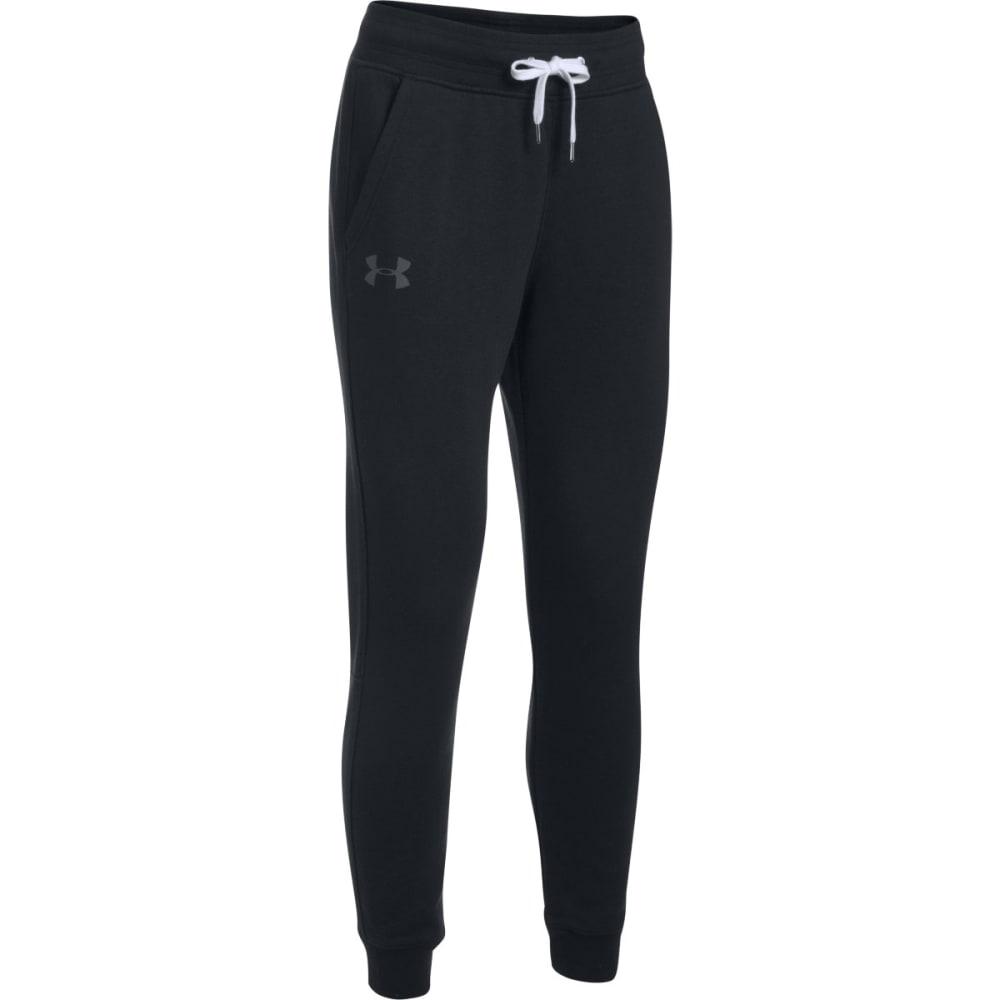 UNDER ARMOUR Women's UA Favorite Fleece Pants - BLACK/CHARCOAL-002