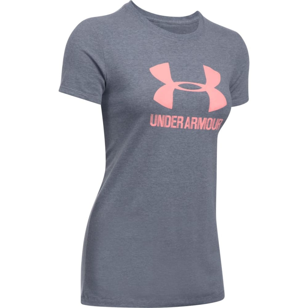 UNDER ARMOUR Women's Sportstyle Crew Short-Sleeve Shirt - MDN/CAPE CORAL-412